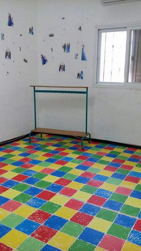 רצפת פי וי סי PVC לחדרי ילדים